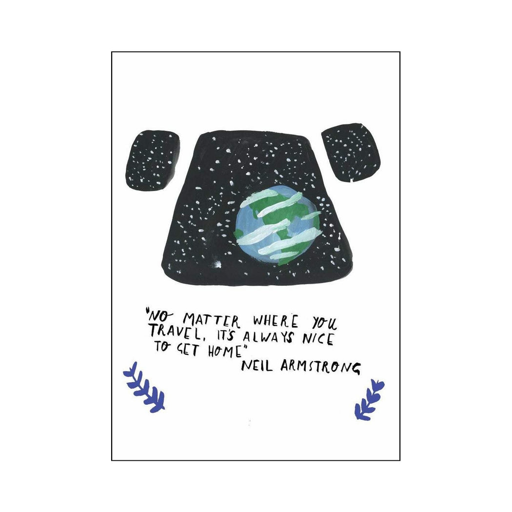 Neil Armstrong Quote Blank Card