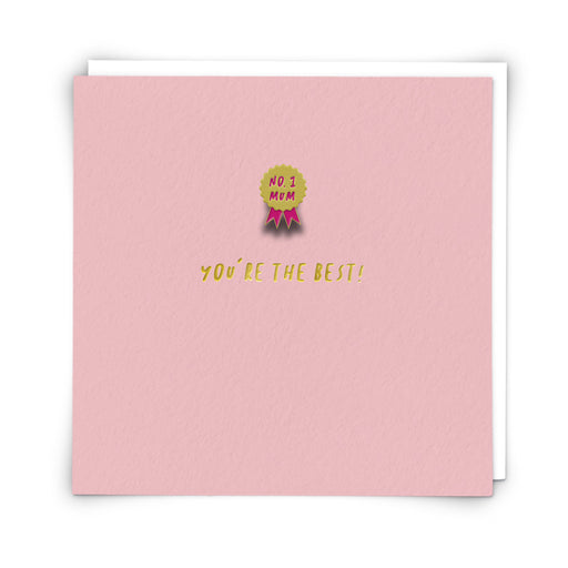 No. 1 Mum Pin Badge Mother's Day Card