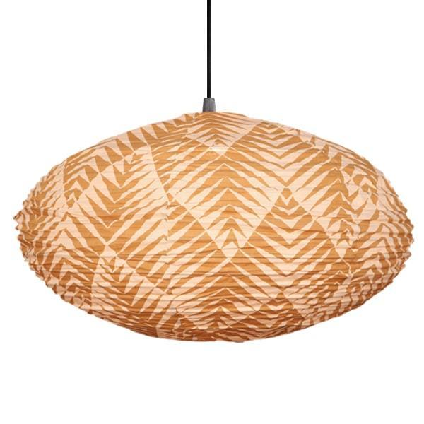 Large 80cm Cream and Mustard Yellow Palm Cotton Pendant Lampshade