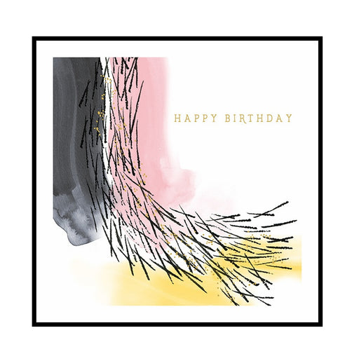 Abstract Sticks Happy Birthday Card