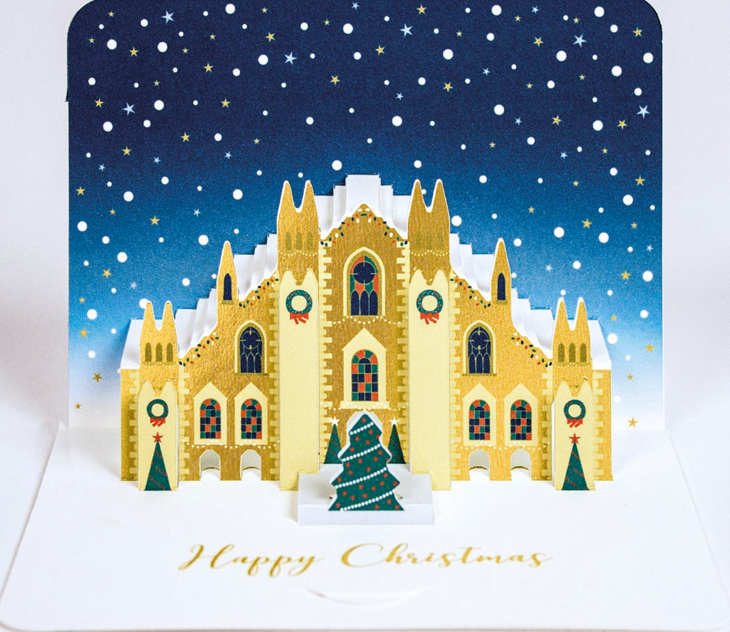 Milan Cathedral Pop Up Christmas Card