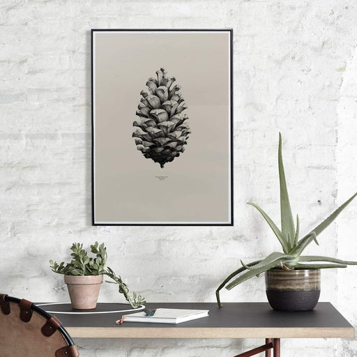 1:1 Pinecone in Sand Print