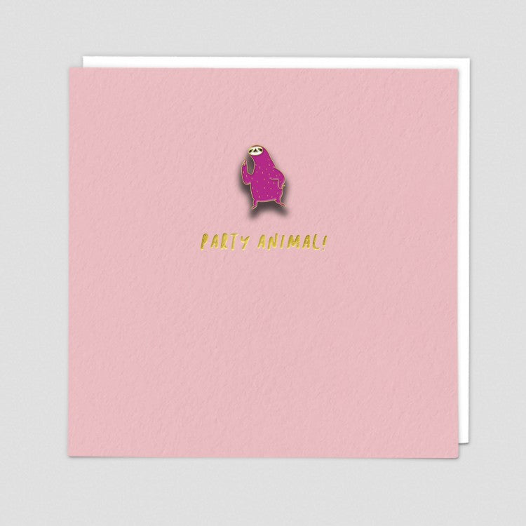 Party Animal Enamel Pin Card