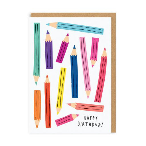 Coloured Pencils Birthday Card