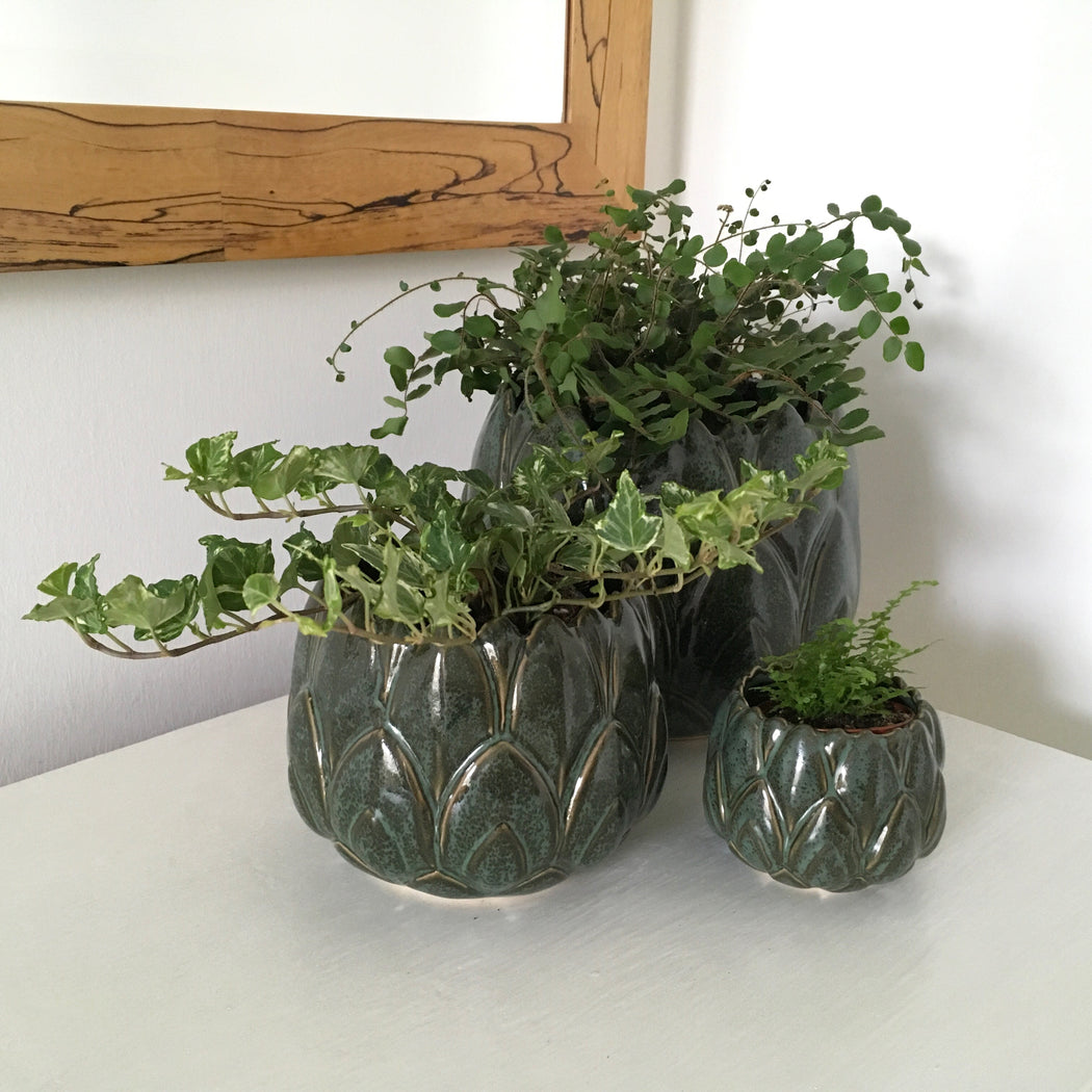 Small Green Leaf Plant Pot