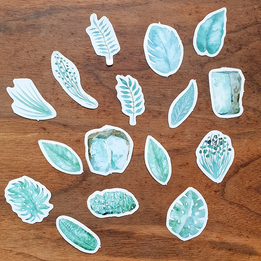 Kawaii Plant Sticker Set