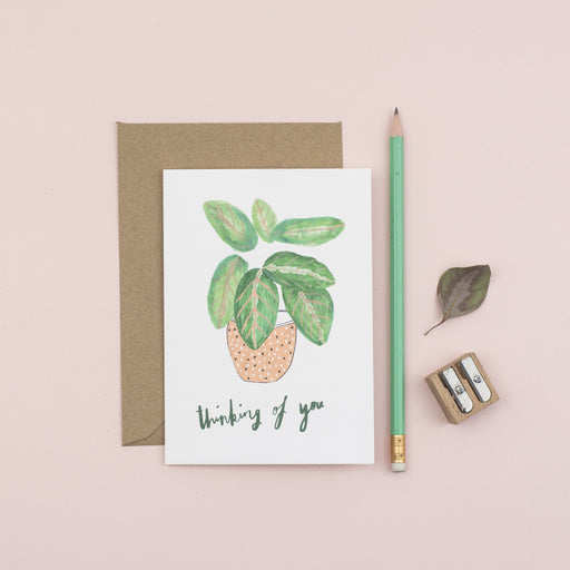 Houseplant Thinking Of You Card
