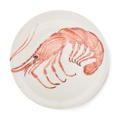Large Earthenware Prawn Platter