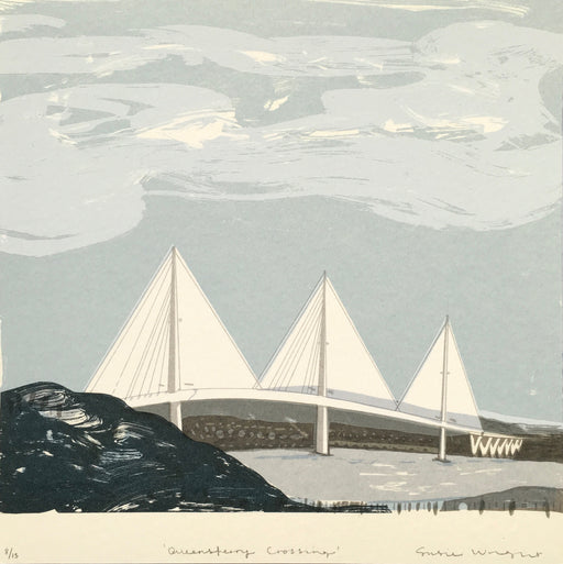 Small Queensferry Crossing Screen Print