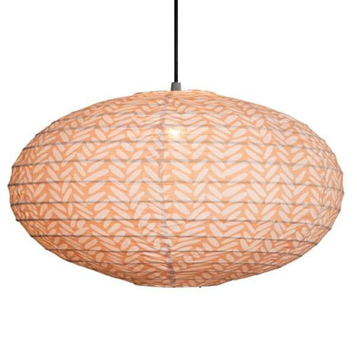 Large 80cm Cream and Beige Rice Cotton Pendant Lampshade