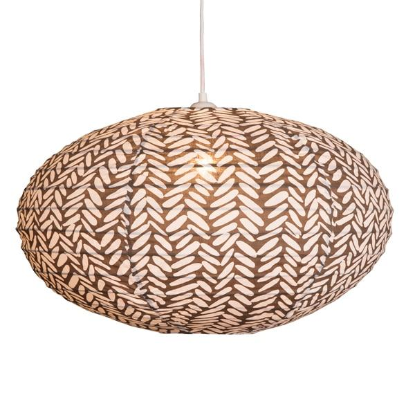 Rice in Brown Lampshade - 80cm