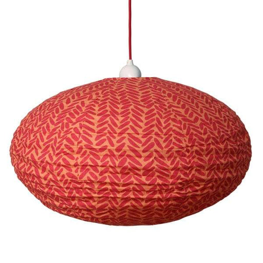 Small 60cm Red and Orange Rice Cotton Pendant Lampshade