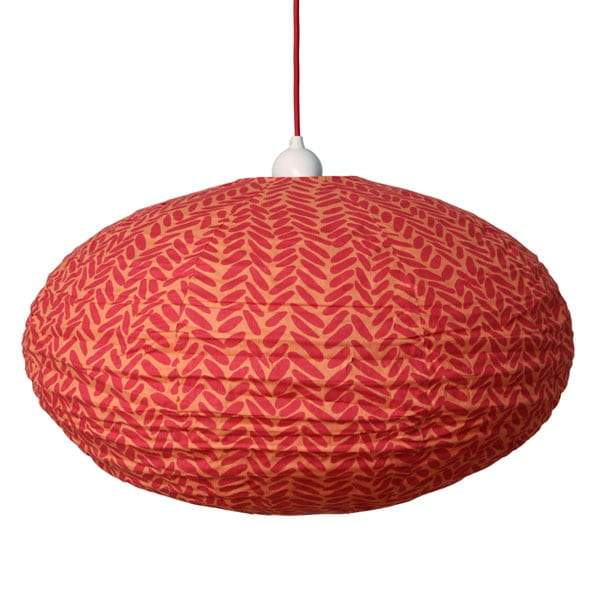 Rice in Red and Orange Lampshade - 60cm