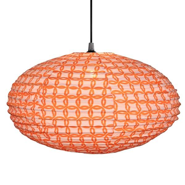 Ring in Orange Lampshade - 60cm