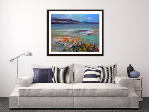 Large Rocky Shore Orkney Art Print