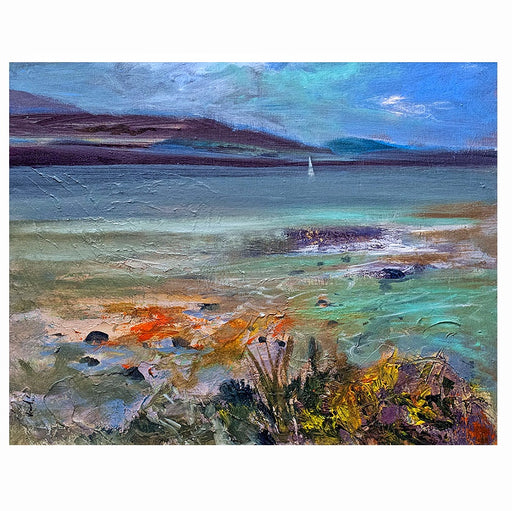 Small Rocky Shore Orkney Art Print