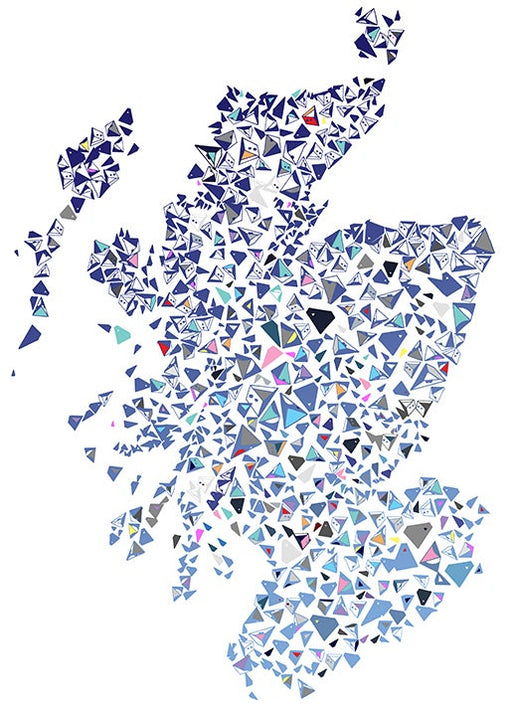 Scotland Shapes Map Art Print