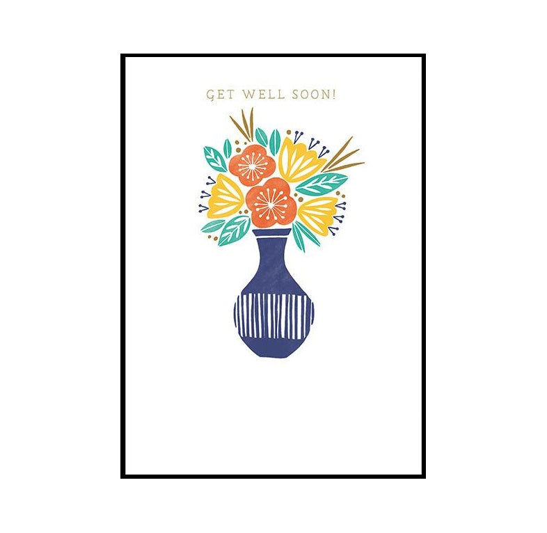 Flowers Get Well Soon Card
