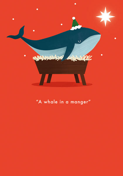 A Whale In A Manger Christmas Card