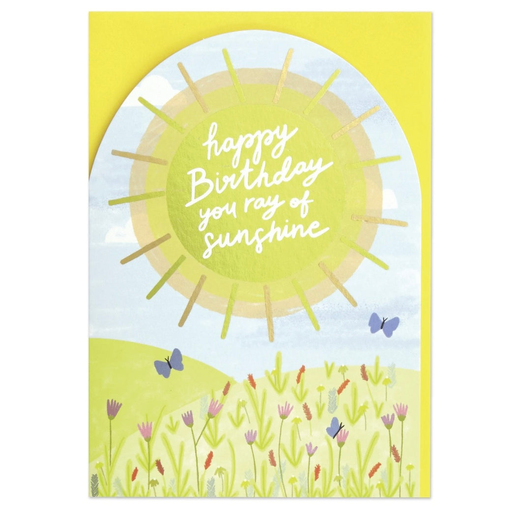 Laser Cut Ray Of Sunshine Birthday Card