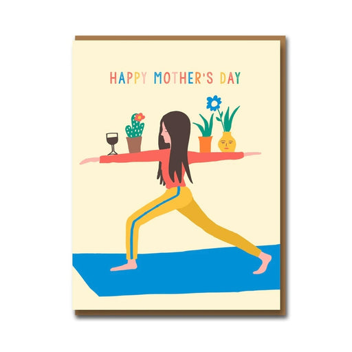 Yoga Mum Mother's Day Card