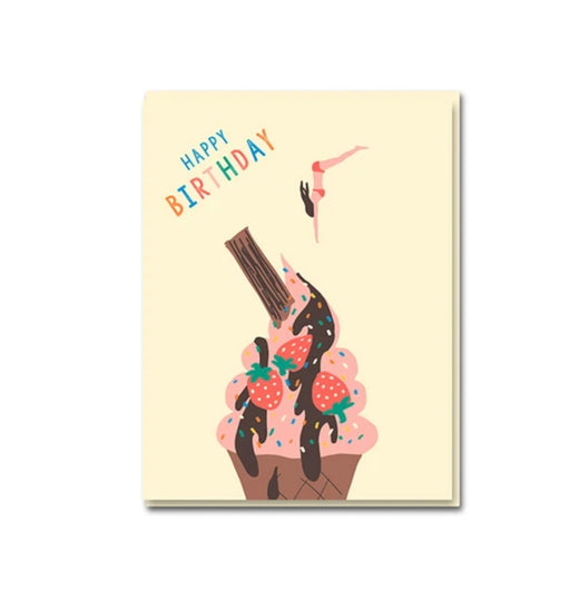 Strawberry Ice Cream Birthday Card