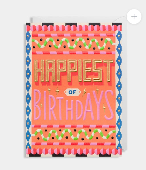 Happiest of Birthdays - Embossed card by Ruby Taylor
