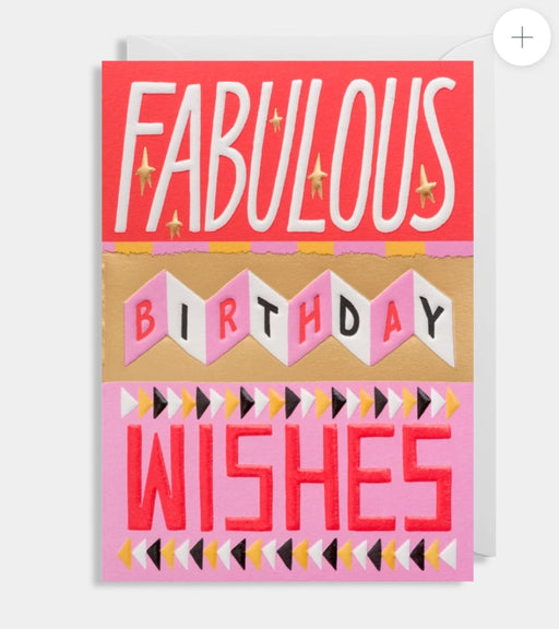 Fabulous Birthday Wishes - Embossed card by Ruby Taylor