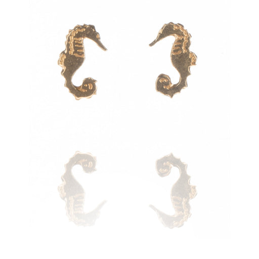 Tiny Gold Vermeil Seahorse Stud Earrings