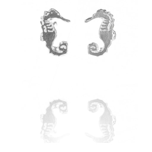 Tiny Sterling Silver Seahorse Stud Earrings