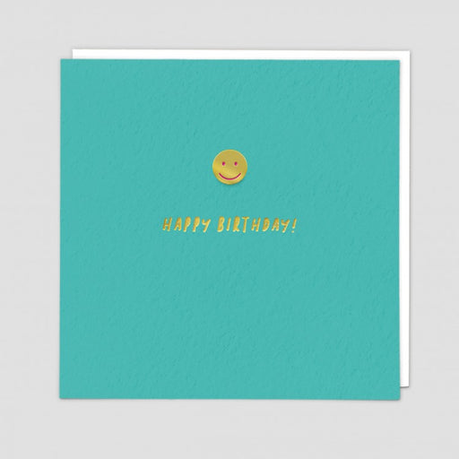 Smiley Emoji Happy Birthday Enamel Pin Card