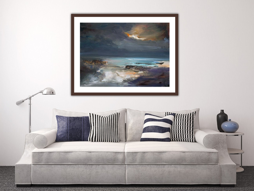 Small Sound of Taransay Harris Art Print