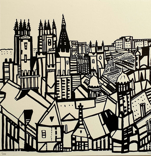 Small Edinburgh View Screen Print