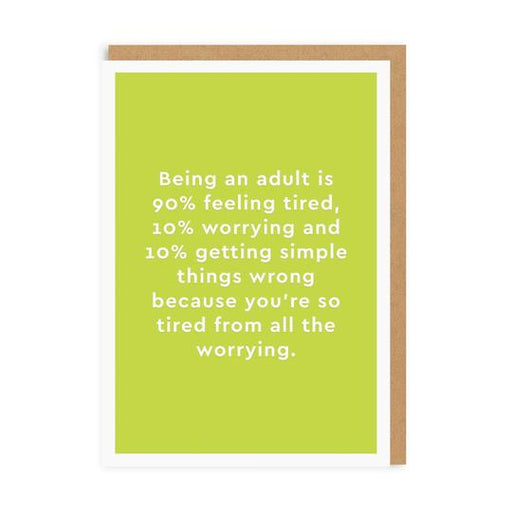 Being An Adult Blank Card