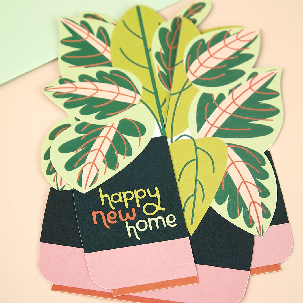 Plants Pop-up New Home Card
