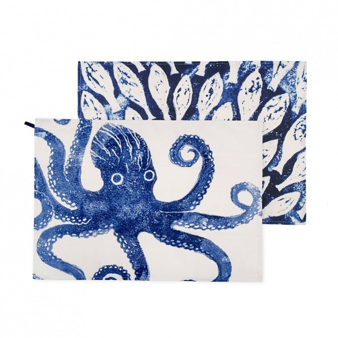 Set Of Two Sea Creatures Tea Towels