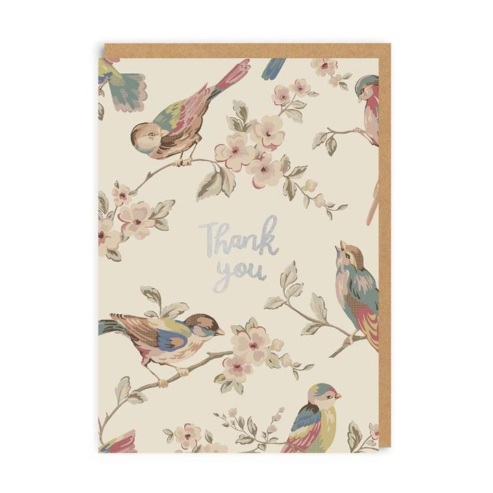 Cath Kidston Bird Thank You Card