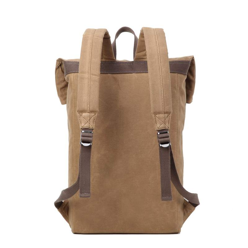 Camel Waxed Canvas Bag