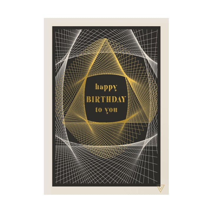 Happy Birthday To You Geometric Lines Card