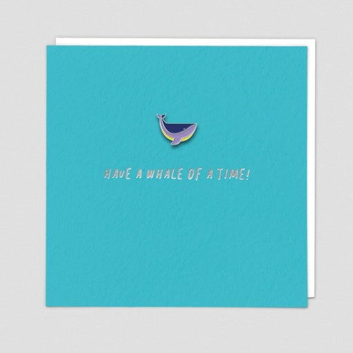 Have Whale Of A Time Enamel Pin Card
