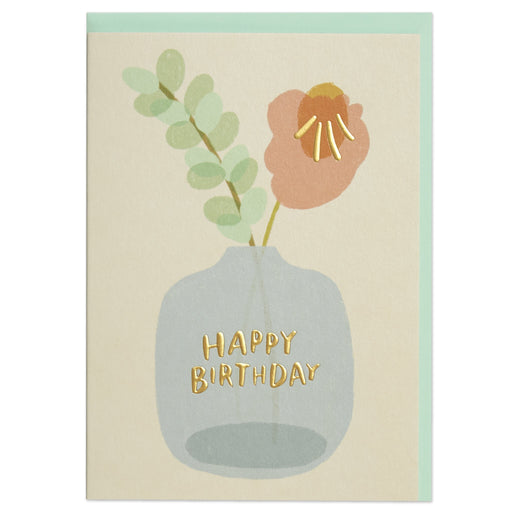 Vase Of Flowers Birthday Card