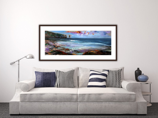 Large Working Of The Wind Sandwood Bay Art Print