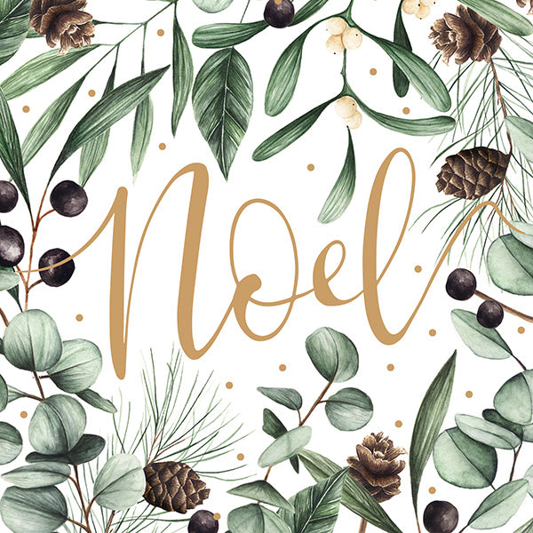 Set Of 6 Noel Christmas Cards