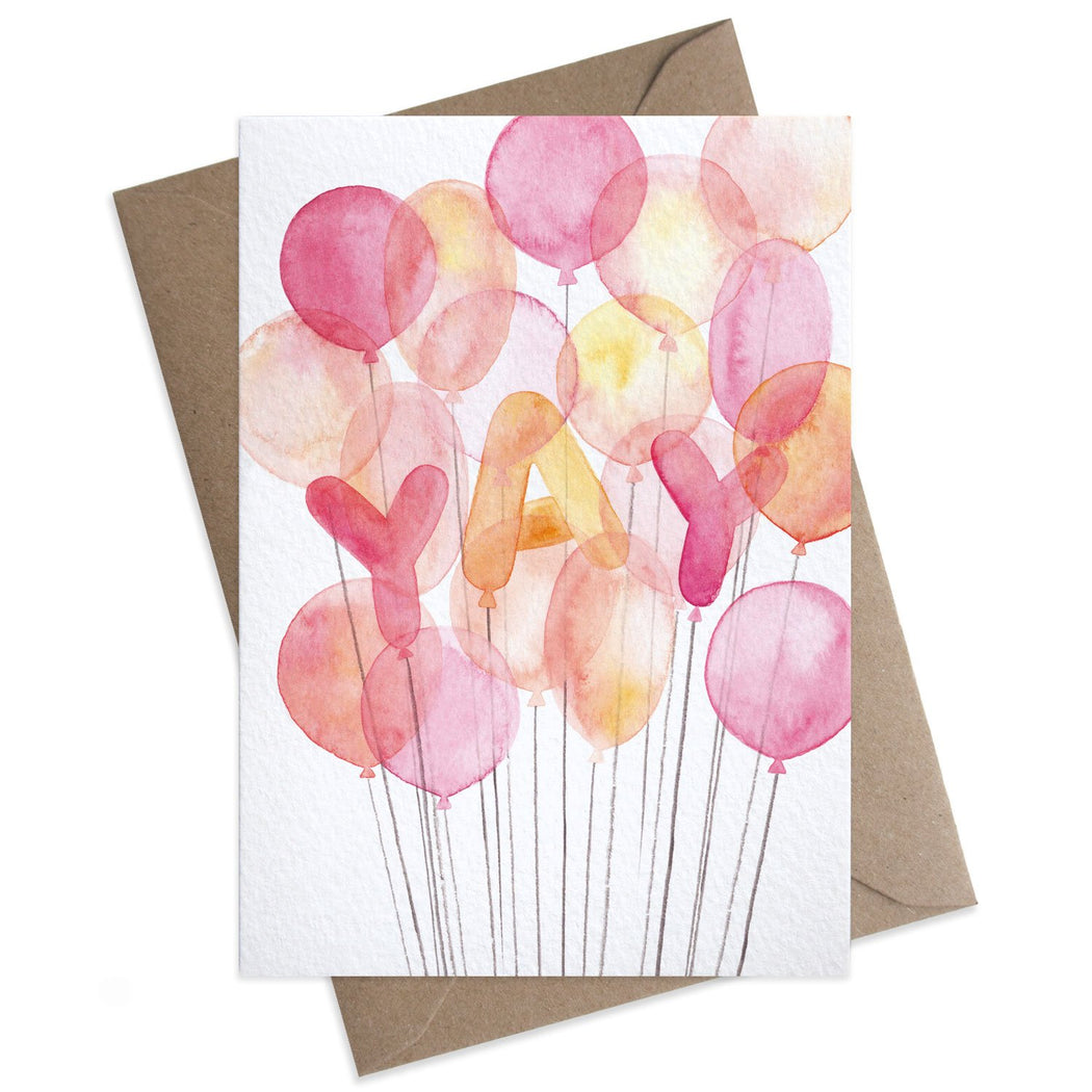 Yay Balloons Congratulations Card