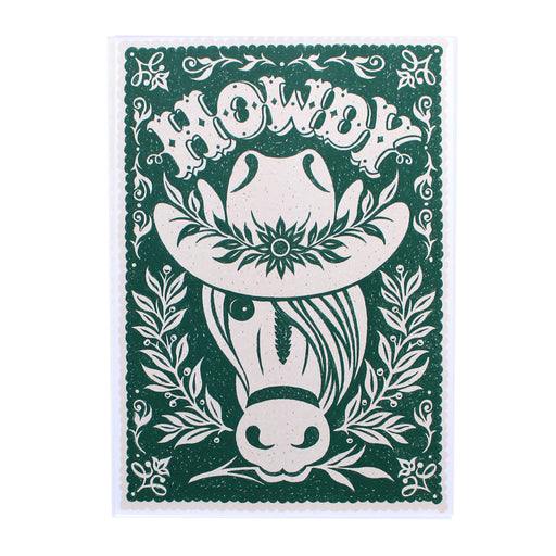 Forest Green Howdy Print by Alexandra Snowdon