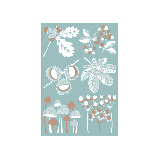Autumn Large Scandinavian Screen Print in Cloudy Sky Blue