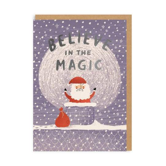 Believe In The Magic - Santa Christmas Card