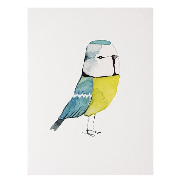 Blue Tit Print by Matt Sewell