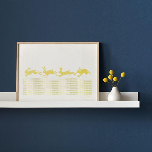 Drove Medium Scandinavian Screen Print in Lemon Drop Yellow