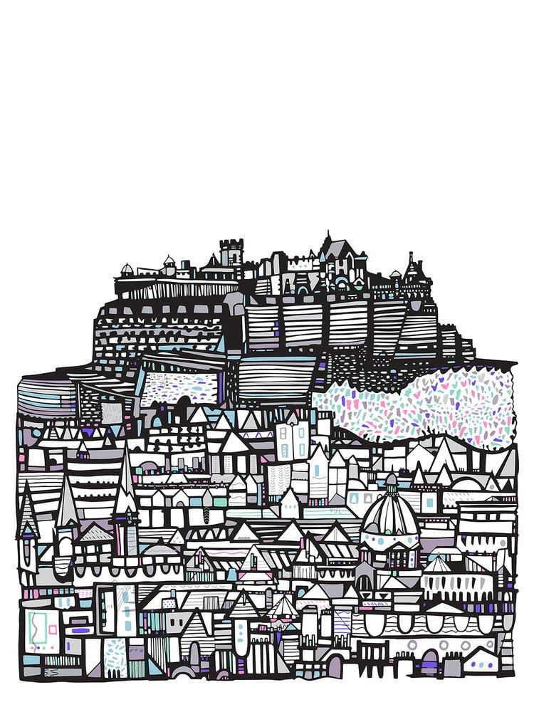 Small Castle City print by Susie Wright